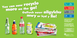 Recycle-on-the-go Wales poster/press ad 48 sheet landscape
