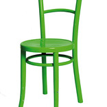 Green painted wooden chair