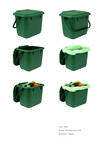 Green Small Food Bin Set
