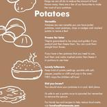 Love Food Hate Waste tip card for potatoes