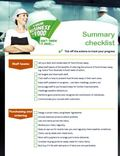 Your Business Is Food Summary Checklist