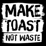 Make Toast Not Waste Transparent Logo (English/Welsh)