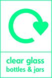 Clear glass signage - logo (portrait)