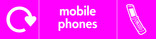 Mobile Phones signage - phone icon with logo (landscape)