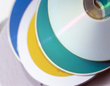 Stack of CDs - close up