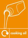 Cooking oil signage - oil icon with logo (portrait)