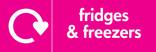 Fridges & Freezers signage - logo (landscape)