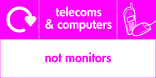 Telecoms & Computers signage - phone & mouse icon with logo (landscape)