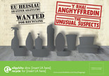 Unusual Suspects - Plastics - Bilingual A5 Leaflet (Welsh-English)