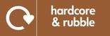 Hardcore & Rubble signage - Logo (landscape)