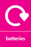 Batteries signage - logo (portrait)