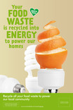 Food recycling - Orange - 6 sheet poster