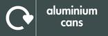 Aluminium cans signage - logo (landscape)