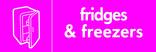Fridges & Freezers signage - fridge icon (landscape)