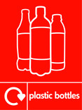 Plastic bottles (500ml juice) signage - juice bottles icon with logo (portrait)