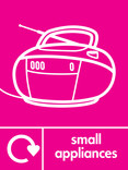 Small Appliances signage - radio icon with logo (portrait)