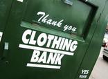 Close up of clothing bank