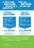 Good to Know - Recycling bin stickers - Welsh-English