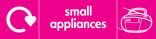 Small Appliances signage - radio icon with logo (landscape)