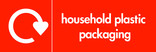 Household plastic packaging (with film) signage - logo (landscape)