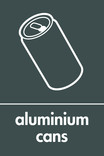 Aluminium cans signage - can icon (portrait)
