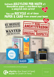 Unusual Suspects Paper and card - bilingual press adverts - (Welsh first)