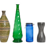 Coloured glass vases