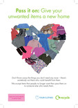 Pass it on: Give your unwanted items a new home (Textiles and clothing heart)
